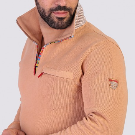 STEFF - Sporty sweater with zip collar