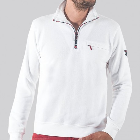 GILLES - Sporty sweater with zip collar