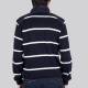 DICK - Stripe sporty sweater with zip collar, long sleeve